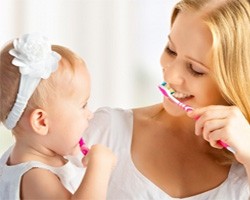 Гигиеническая чистка зубов пастами